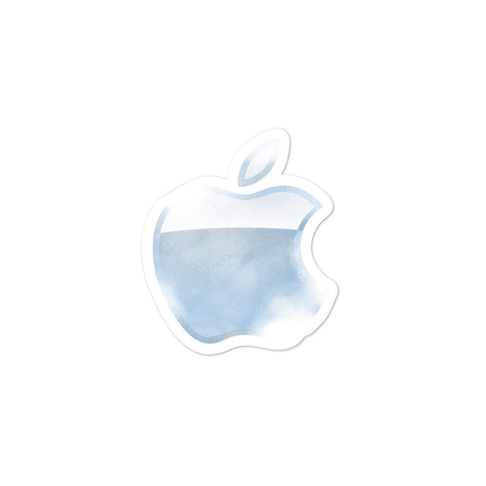 Apple translucent Sticker