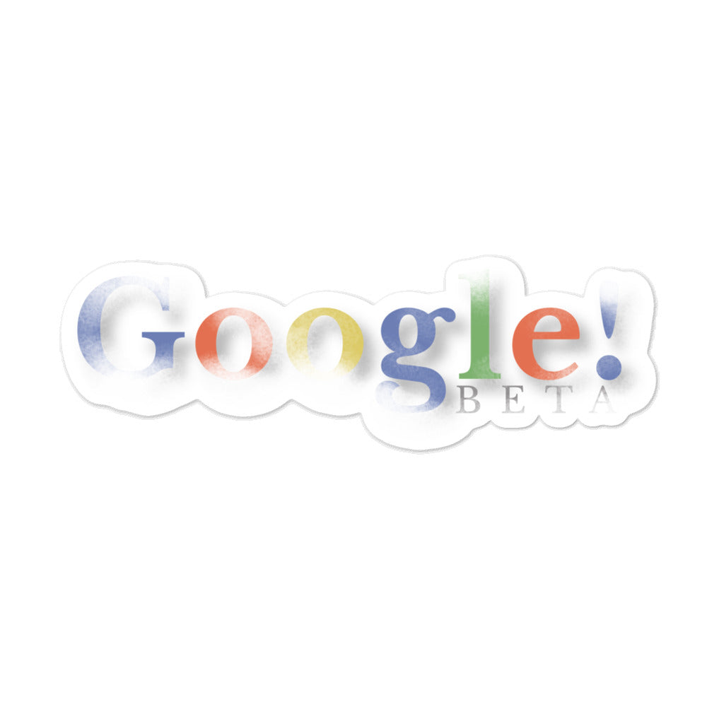 Google Beta Sticker