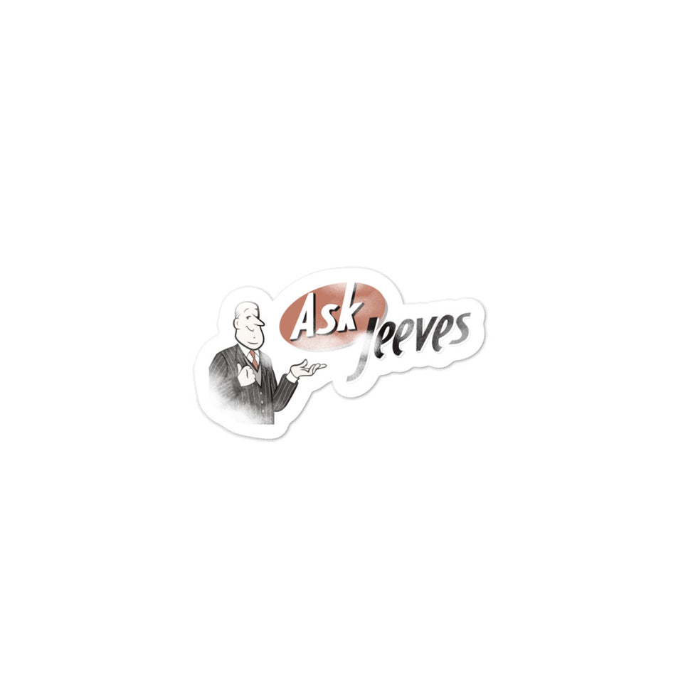 Ask Jeeves Sticker