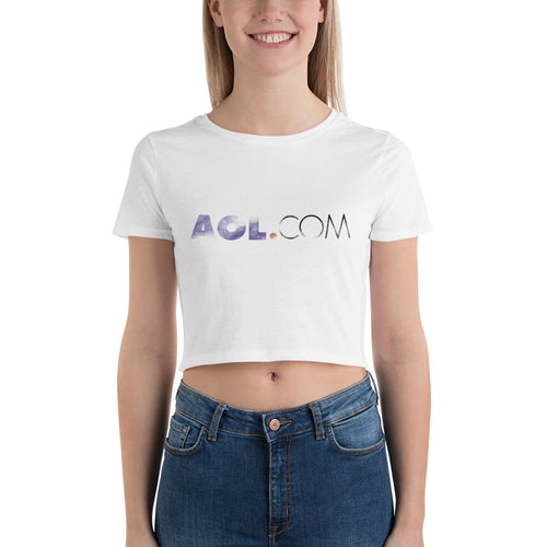AOL.com Women's Crop Tee