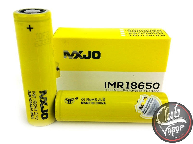 IMR 18650F 2800MAH 35A 3.7V High Drain Flat Top Battery by MXJO - 1 Pair - Club Vapor USA
