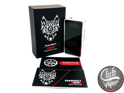 SnowWolf 200W Variable Wattage Box Mod with Temperature Control by Asmodus - Club Vapor USA