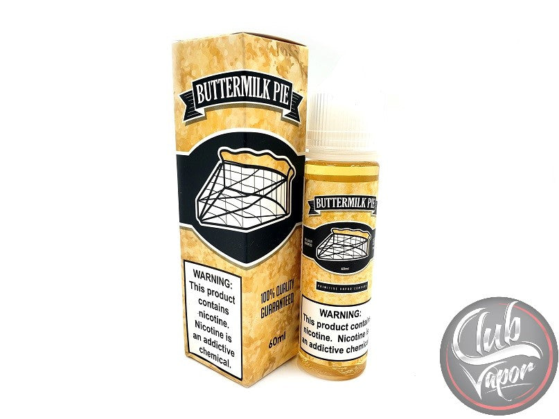 Buttermilk Pie E-Liquid by Primitive Vapor Co. 60mL
