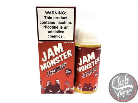 Strawberry E Liquid by Jam Monster Liquids 100mL