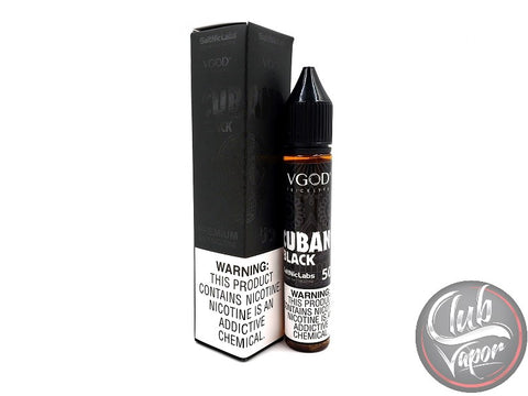 Black Cubano Salt Nicotine E-Liquid 30mL by VGOD Salt