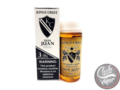 Don Juan 120mL E Liquid by King's Crest