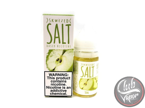 Green Apple Salt Nicotine E-Liquid by Skwezed Salt 30mL