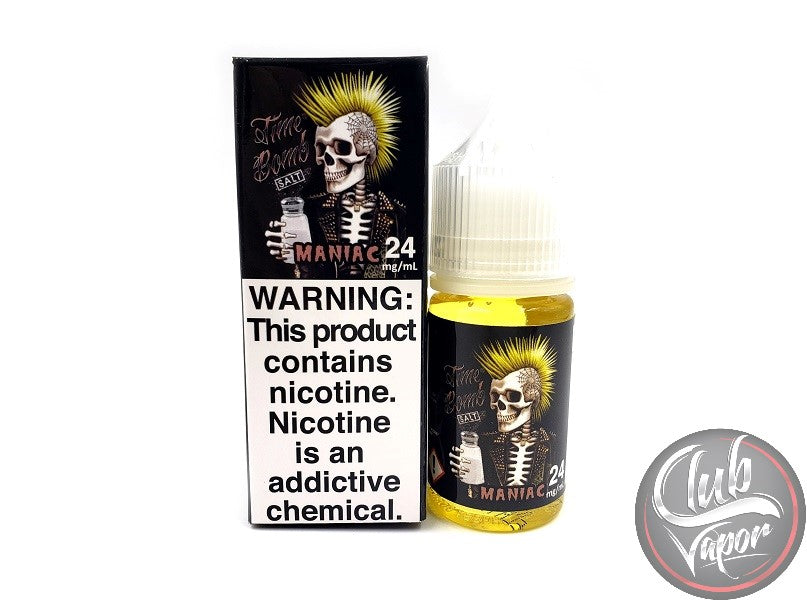 Maniac Salt Nicotine E-Liquid by Time Bomb Salt 30mL