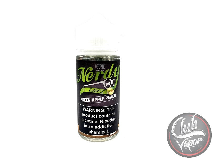 Green Apple Peach 100mL by Nerdy E Liquid