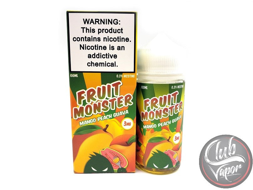 Mango Peach Guava E-Liquid by Fruit Monster 100mL