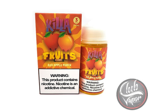 Red Apple Peach 100mL E-Liquid by Killa Fruits
