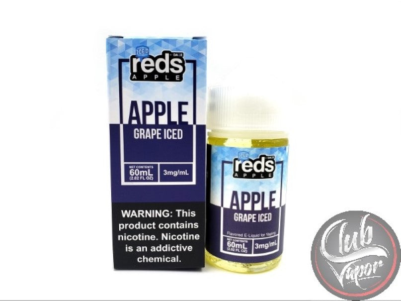 Grape Red's Apple ICED E-Juice by 7 Daze 60mL