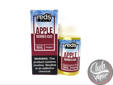 Berries Red's Apple ICED E-Juice by 7 Daze 60mL