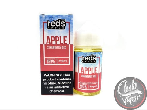 Strawberry Red's Apple ICED E Juice by 7 Daze 60mL