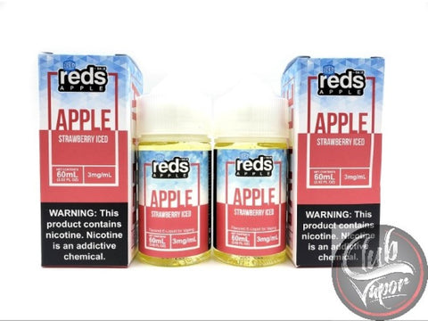 Strawberry Red's Apple ICED E Juice by 7 Daze 120mL