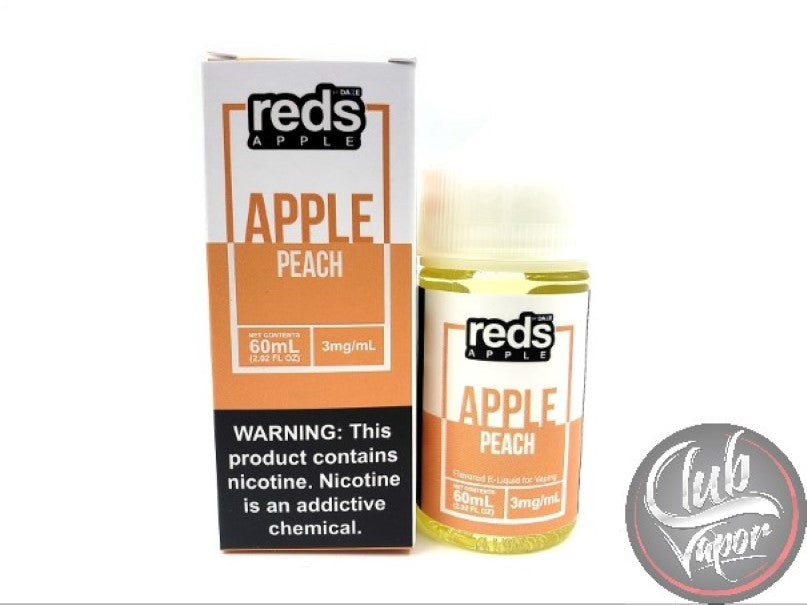 Peach Red's Apple E-Juice by 7 Daze 60mL
