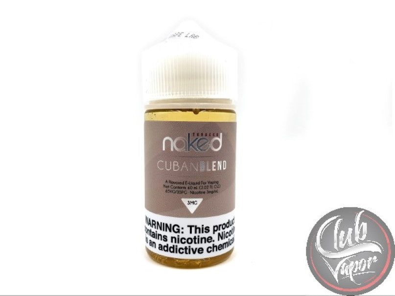 Cuban Blend E Liquid by Naked 100 Tobacco 60mL