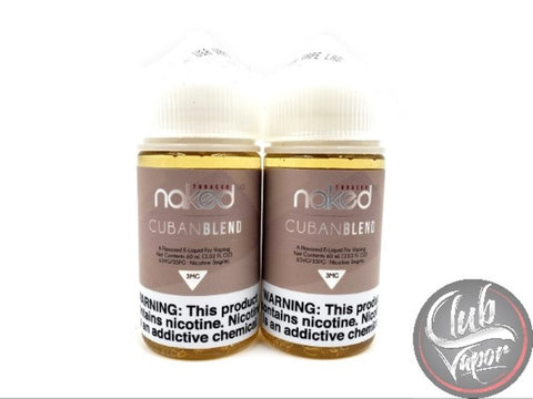 Cuban Blend E Liquid by Naked 100 Tobacco 120mL