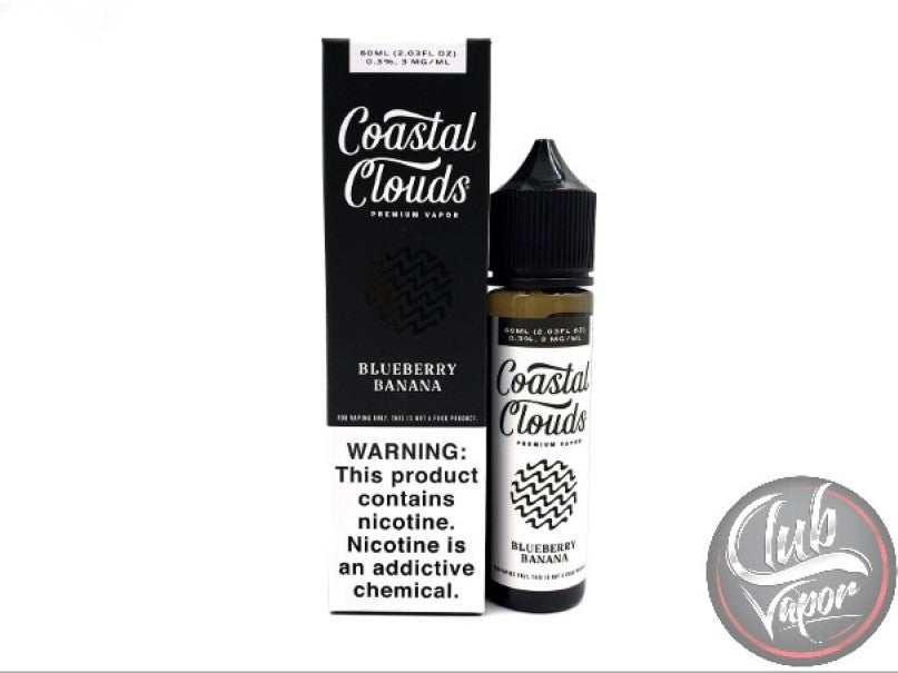 Blueberry Banana 60mL E-Liquid by Coastal Clouds