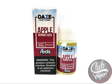 Berries Red's Apple ICED Salt E-Liquid 30mL by 7 Daze Salt Series