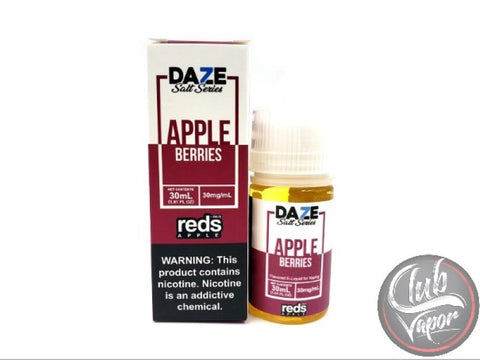 Berries Red's Apple Salt E-Liquid 30mL by 7 Daze Salt Series