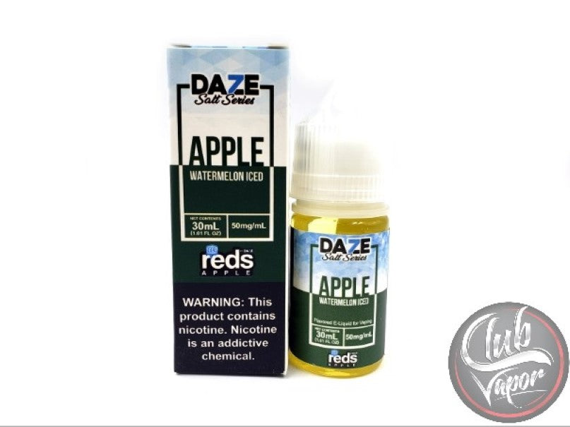 Watermelon Red's Apple ICED Salt E-Liquid 30mL by 7 Daze Salt Series