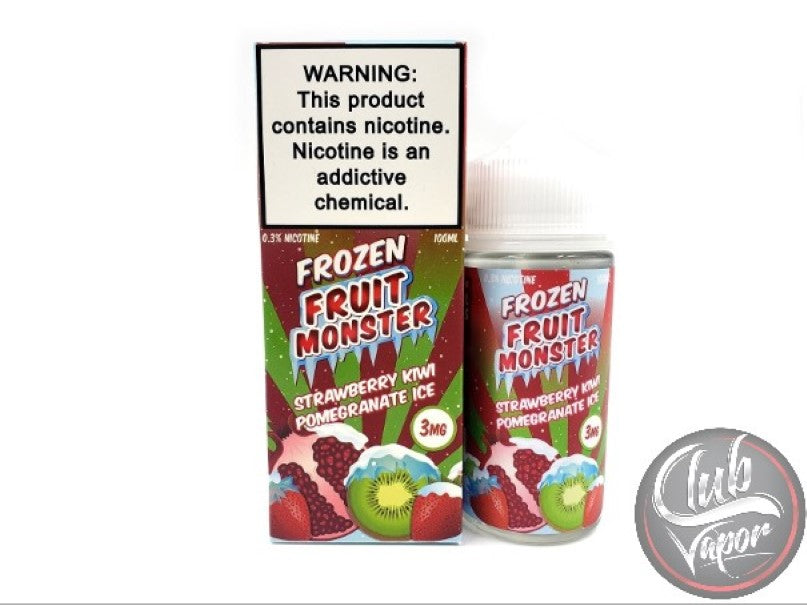Ice Strawberry Kiwi Pomegranate E-Liquid by Frozen Fruit Monster 100mL