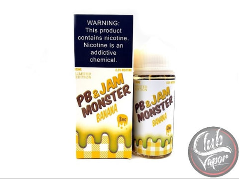 Banana PB Jam E-Liquid 100mL by Jam Monster Liquids