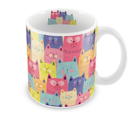 Caneca de porcelana Cat Colors 300 ml.