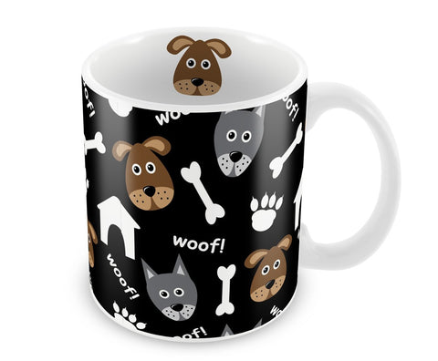 Caneca de porcelana Woof - Dog lovers 300 ml.