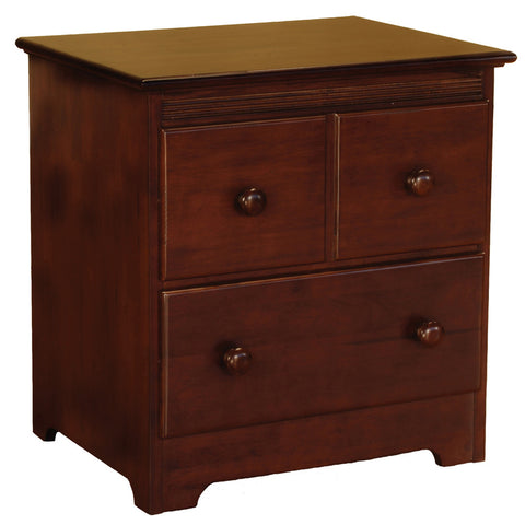 Windsor 2-Drawer Nightstand in Antique Walnut