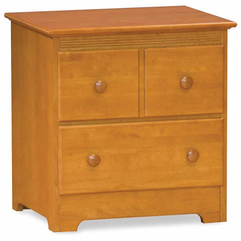 Windsor 2-Drawer Nightstand in Caramel Latte