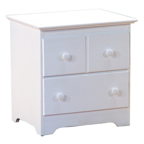 Windsor 2-Drawer Nightstand in White