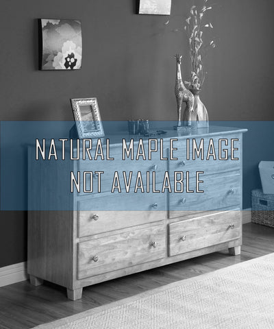 Atlantic 6 Drawer Dresser in a Natural Maple