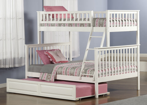 Woodland Twin over Full Bunk Bed in White