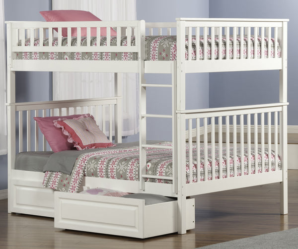Woodland Full over Full Bunk Bed in White