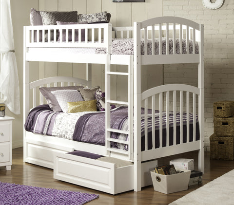 Richland Twin over Twin Bunk Bed in White