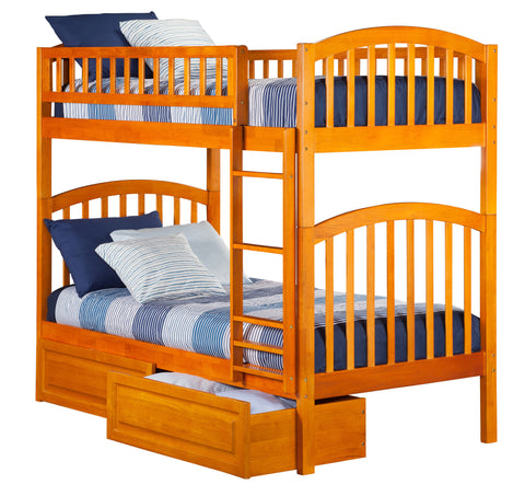 Richland Twin over Twin Bunk Bed in Caramel Latte