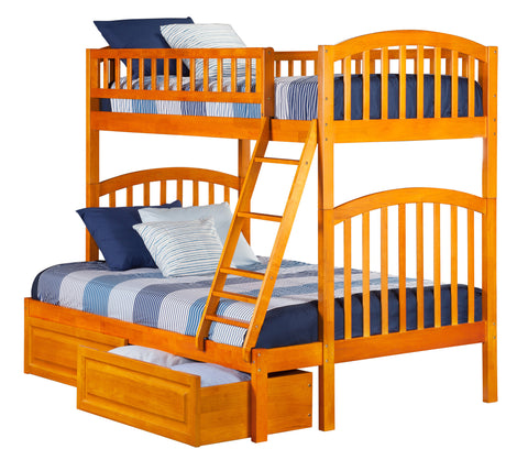 Richland Twin over Full Bunk Bed in Caramel Latte