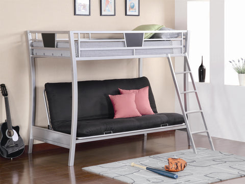 Coaster Modern Twin over Futon Bunk Bed