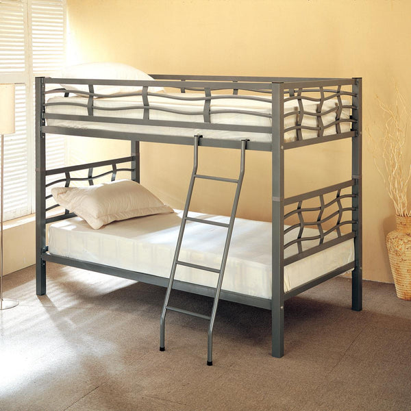 Coaster Twin Bunk Bed with Ladder