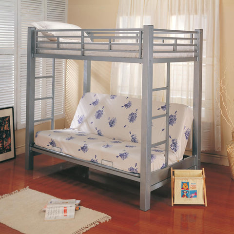 Coaster Twin Over Futon Metal Bunk Bed