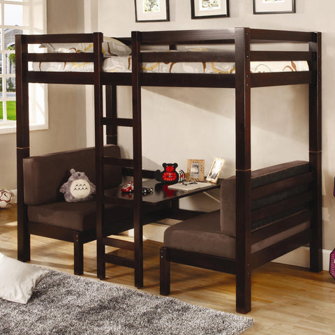 Coaster Twin Over Twin Convertible Loft Bed