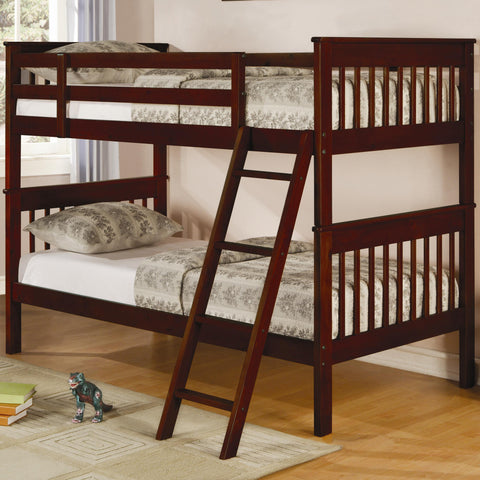 Coaster Twin over Twin Slat Bunk Bed