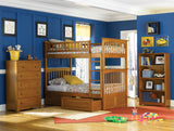 Columbia Twin over Twin Bunk Bed in Caramel Latte w/ Storage Drawers