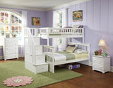 Columbia Twin over Full Stairway Bunk Bed in White