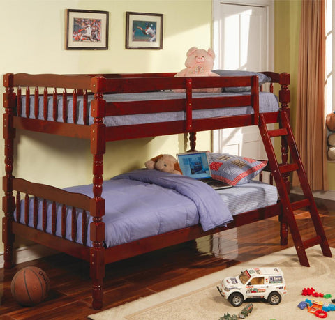 Corinth Twin over Twin Bunk Bed in Cherry