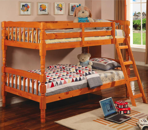 Corinth Twin over Twin Bunk Bed in Pine