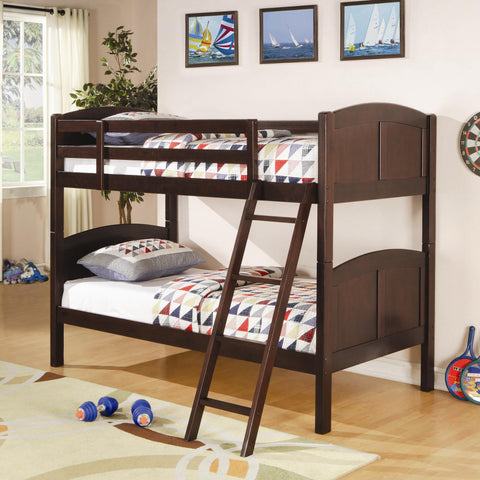 CR Twin over Twin Bunk Bed in Cappuccino