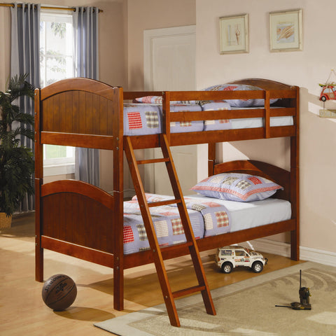 CR Twin over Twin Bunk Bed in Dark Pine